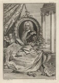 Robert Walpole, 1st Earl of Orford, by George Vertue, after  Christian Friedrich Zincke, 1748 (1744) - NPG D5417 - © National Portrait Gallery, London