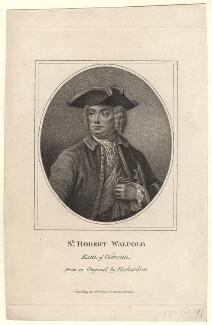 Robert Walpole, 1st Earl of Orford, after Jonathan Richardson, published 1806 - NPG D5419 - © National Portrait Gallery, London