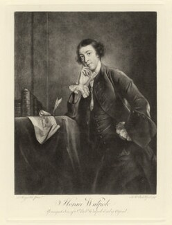 Horace Walpole, after James Macardell, after  Sir Joshua Reynolds - NPG D5423