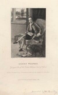 Horace Walpole, by William Greatbach, after  Johann Heinrich Muntz, published 1858 - NPG D5424 - © National Portrait Gallery, London