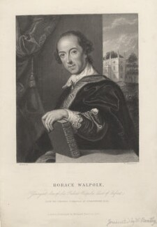 Horace Walpole, by William Greatbach, after  John Giles Eccardt, published 1857 - NPG D5425 - © National Portrait Gallery, London