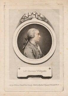Horace Walpole, by D.P. Pariset, after  Pierre-Étienne Falconet, (1768) - NPG D5426 - © National Portrait Gallery, London