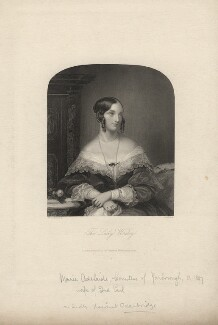 Marie Adelaide Oxenbridge (née Maude) when Lady Worsley, by William Henry Mote, after  Christina Robertson (née Saunders) - NPG D5442