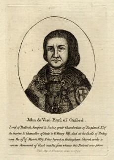 John de Vere, 15th Earl of Oxford, published by John Thane - NPG D5443