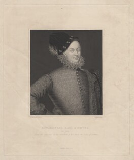 Edward de Vere, 17th Earl of Oxford, by Joseph Brown, after  George Perfect Harding - NPG D5444