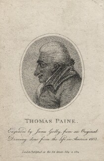 Thomas Paine, by James Godby, after  Unknown artist - NPG D5455