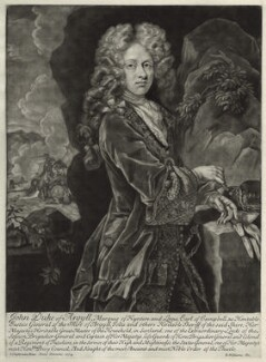 John Campbell, 2nd Duke of Argyll and Greenwich, by Robert Williams, after  John Closterman, 1704 - NPG D546 - © National Portrait Gallery, London