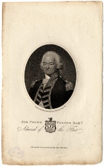 Sir Peter Parker, 1st Bt, by William Ridley, published by  Joyce Gold, after  Valentine Green - NPG D5465