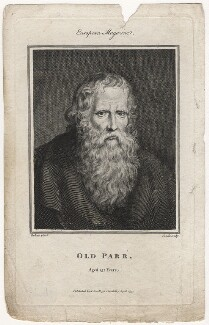 Thomas Parr, by Jean Condé, after  Sir Peter Paul Rubens - NPG D5469