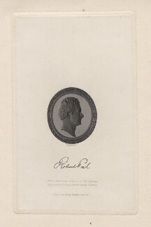 Sir Robert Peel, 2nd Bt, by Alfred Robert Freebairn, after a gem by  John De Veaux, after a bust by  Sir Francis Leggatt Chantrey - NPG D5485
