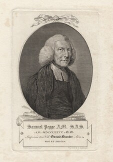 Samuel Pegge, by James Basire, after  Arthur William Devis - NPG D5489