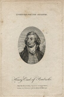 Henry Herbert, 10th Earl of Pembroke, by Charles Warren, published by  Charles Cooke, after  W.H. Brown - NPG D5497
