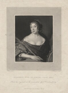 Elizabeth Pepys, by James Thomson (Thompson), after  John Hayls - NPG D5508