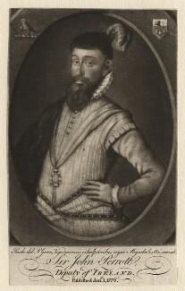 Sir John Perrott, by Valentine Green, after  George Powle - NPG D5509