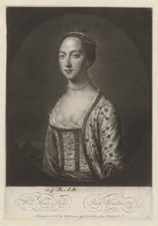 Miss Plunkett, by Richard Houston, after  William Hoare - NPG D5534