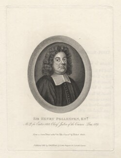 Sir Henry Pollexfen, by T. Berry, published by  Thomas Rodd the Younger, published by  Horatio Rodd, after  Robert White - NPG D5539