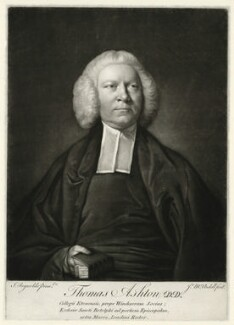 Thomas Ashton, by James Macardell, after  Sir Joshua Reynolds - NPG D554