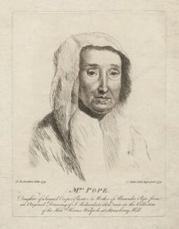 Edith Pope (née Cooper), by C. Carter, after  Jonathan Richardson - NPG D5543