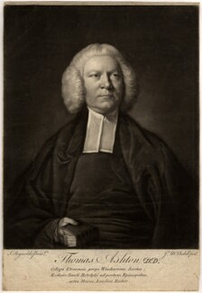 Thomas Ashton, by James Macardell, after  Sir Joshua Reynolds - NPG D555