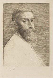 Sir Edward John Poynter, 1st Bt, by Alphonse Legros, published by  The Portfolio - NPG D5553