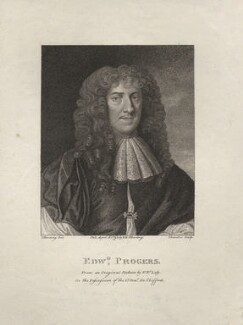 Edward Progers, by Schenecker, published by  E. & S. Harding, after  Silvester (Sylvester) Harding, after  Sir Peter Lely - NPG D5561