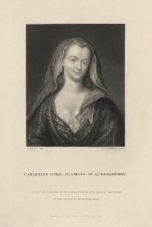 Catherine Douglas (née Hyde), Duchess of Queensberry, by William Greatbach, after  Charles Jervas, published 1857 - NPG D5570 - © National Portrait Gallery, London