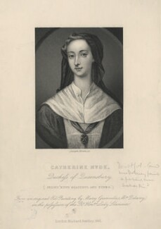Catherine Douglas (née Hyde), Duchess of Queensberry, by Joseph Brown, after  Mary Delany (née Granville), published 1861 - NPG D5571 - © National Portrait Gallery, London