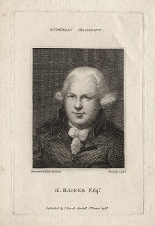 Robert Raikes, by William Bromley, published by  John Sewell, after  Samuel Drummond - NPG D5575