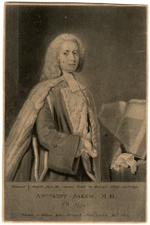 Anthony Askew, by Thomas Hodgetts, published for  William Richard Beckford Miller, after  Allan Ramsay - NPG D560