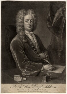Joseph Addison, by John Simon, after  Michael Dahl, (1719) - NPG D5617 - © National Portrait Gallery, London