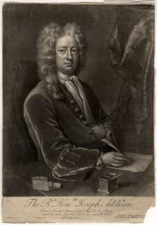 Joseph Addison, by John Simon, after  Michael Dahl, (1719) - NPG D5618 - © National Portrait Gallery, London