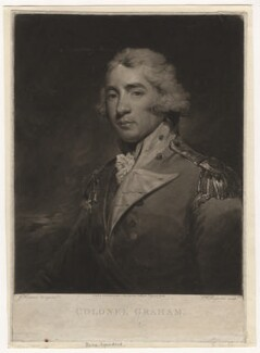 Thomas Graham, Baron Lynedoch, by Samuel William Reynolds, published by  John Jeffryes, after  John Hoppner - NPG D5651
