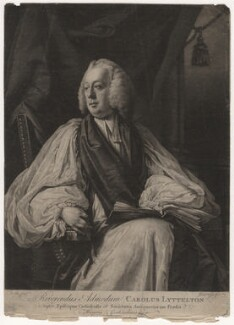 Charles Lyttelton, by James Watson, after  Francis Cotes - NPG D5654