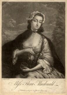 Flora Macdonald with miniature of Prince Charles Edward Stuart, after I. Markluin - NPG D5656