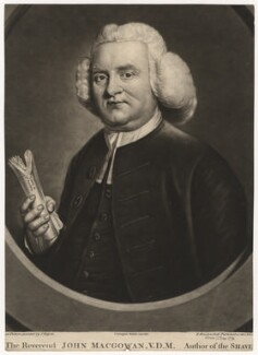 John Macgowan, by Richard Houston, published by  Carington Bowles, after  John Russell - NPG D5660
