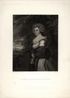 Harriet Maria Harris (née Amyand), Countess of Malmesbury, by James Scott, published by  Henry Graves & Co, after  Sir Joshua Reynolds - NPG D5667