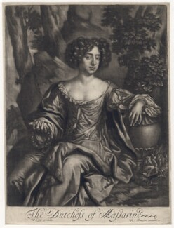 Hortense Mancini, Duchess of Mazarin, published by Richard Tompson, after  Sir Peter Lely, 1678-1679 - NPG D5671 - © National Portrait Gallery, London