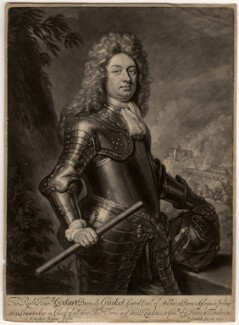 Godard van Reede-Ginckel, 1st Earl of Athlone, by John Smith, after  Sir Godfrey Kneller, Bt - NPG D568