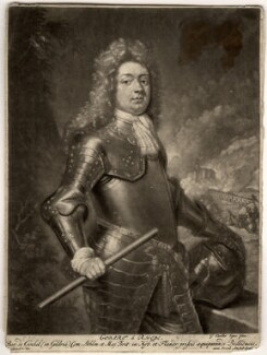 Godard van Reede-Ginckel, 1st Earl of Athlone, by Pieter Schenck, after  Sir Godfrey Kneller, Bt, 1692 (1692) - NPG D569 - © National Portrait Gallery, London
