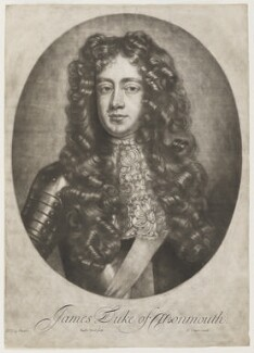 James Scott, Duke of Monmouth and Buccleuch, by Jan van der Vaart, published by  Edward Cooper, after  Willem Wissing - NPG D5697
