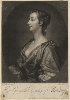 Mary Montagu (née Churchill), Duchess of Montagu, by and sold by John Faber Jr, after  Sir Godfrey Kneller, Bt, 1740 - NPG D5699 - © National Portrait Gallery, London