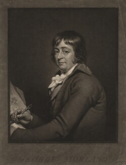 George Morland, by William Ward, after  Robert Muller - NPG D5708