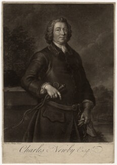 Charles Newby, by John Faber Jr, after  Charles Philips - NPG D5714