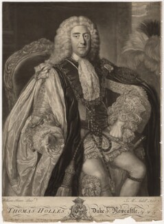 Thomas Pelham-Holles, 1st Duke of Newcastle-under-Lyne, by James Macardell, after  William Hoare - NPG D5716