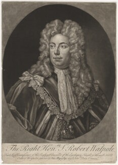 Robert Walpole, 1st Earl of Orford, published by John Cooper, after  Unknown artist - NPG D5725