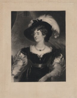 Charlotte Florentia Percy (née Clive), Duchess of Northumberland, by William Oakley Burgess, after  Sir Thomas Lawrence - NPG D5737