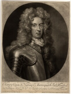 Henry Nassau, Count of Auverquerque, by and published by John Smith, after  Sir Godfrey Kneller, Bt - NPG D574