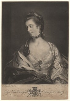 Anne Wentworth (née Campbell), Countess of Strafford, by James Macardell, after  Sir Joshua Reynolds - NPG D5755