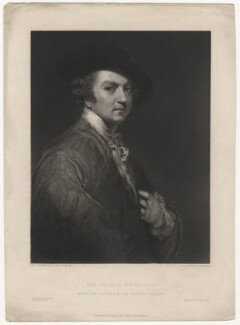Sir Joshua Reynolds, by Thomas Williams Hunt, printed by  Richard Holdgate, after  Sir Joshua Reynolds - NPG D5805
