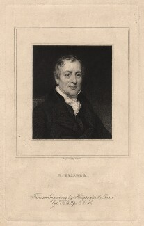 David Ricardo, by William Holl Jr, after  Thomas Phillips - NPG D5807